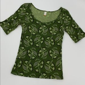 Lucy Print Short Sleeve Thermal. Sz. M